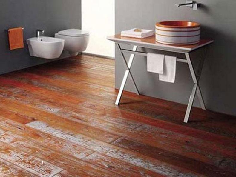Bagni moderni con parquet beautiful arredamento con parquet rovere naturale bagno moderno con - Parquet per cucina e bagno ...